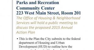 Reunión publica sobre el Plan de Acción Anual del 2015