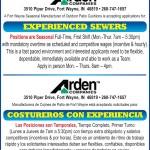 """Arden Companies – """"OPORTUNIDAD DE EMPLEO"""""""