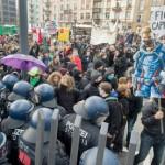 Dos mil anticapitalistas se manifiestan en el BCE, Alemania