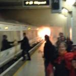 Evacuan la estación de tren en Londres por un incendio