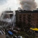 Suman 19 heridos por incendio y derrumbe en Nueva York