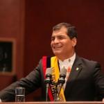 Suspenden acto ante amenaza a presidente Correa en Ecuador