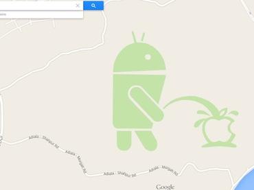 Apple, objeto de ingenioso 'trolleo' en Google Maps