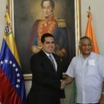 Canciller indio llega a Venezuela