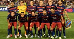 Futbolistas del Barcelona, de paseo por la Casa Blanca