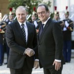 Hollande recibe a Putin tras criticar bombardeos rusos en Siria